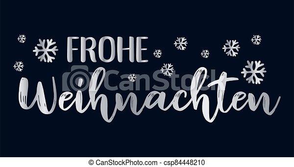 header., alegre, frohe, weihnachten, cartel, o, logotipo, cita, navidad., celebración, alemán, letras, translated, invitation., tarjeta - csp84448210