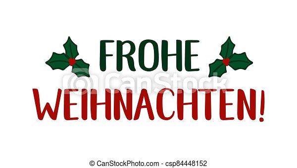 header., alegre, frohe, weihnachten, cartel, o, logotipo, cita, navidad., celebración, alemán, letras, translated, invitation., tarjeta - csp84448152
