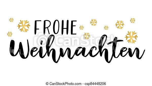 header., alegre, frohe, weihnachten, cartel, o, logotipo, cita, navidad., celebración, alemán, letras, translated, invitation., tarjeta - csp84448206