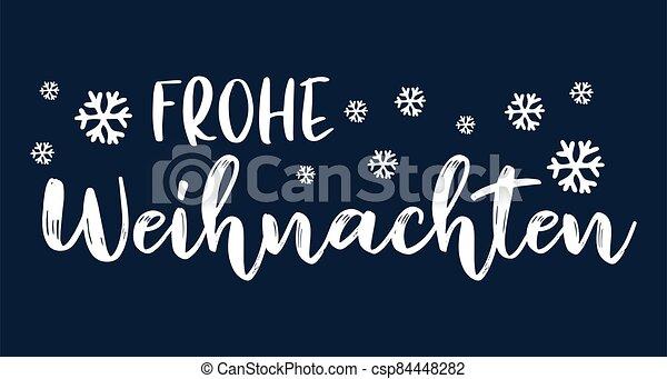 header., alegre, frohe, weihnachten, cartel, o, logotipo, cita, navidad., celebración, alemán, letras, translated, invitation., tarjeta - csp84448282
