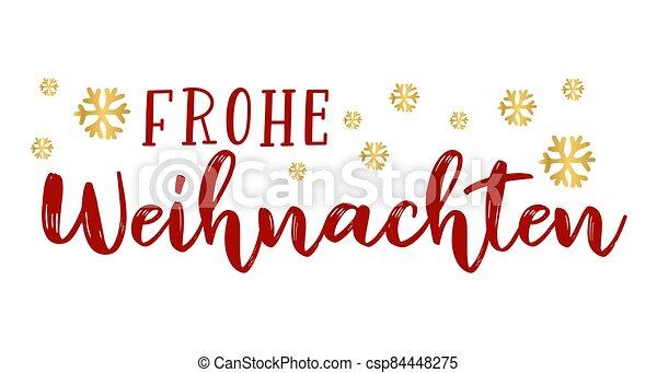 header., alegre, frohe, weihnachten, cartel, o, logotipo, cita, navidad., celebración, alemán, letras, translated, invitation., tarjeta - csp84448275