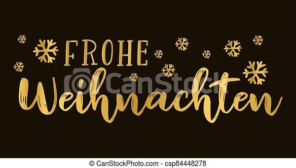 header., alegre, frohe, weihnachten, cartel, o, logotipo, cita, navidad., celebración, alemán, letras, translated, invitation., tarjeta - csp84448278