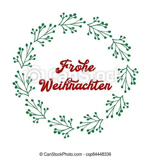 header., alegre, frohe, weihnachten, cartel, o, logotipo, cita, navidad., celebración, alemán, letras, translated, invitation., tarjeta - csp84448336