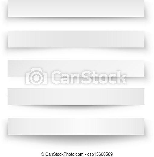 Header blank web banner shadow template - csp15600569