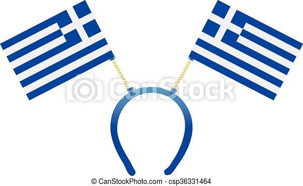 headgear flag greece headdress with a flag of greece for clip rh canstockphoto com greece clipart free greek clip art free