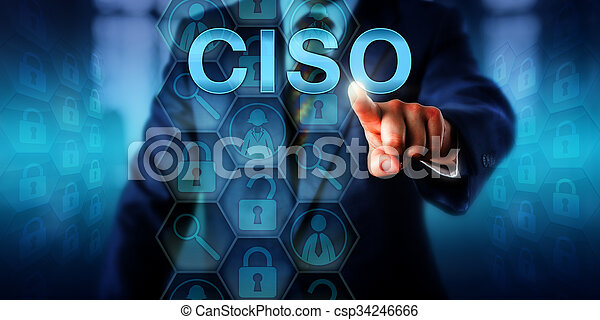 Headhunter Pushing CISO Onscreen - csp34246666