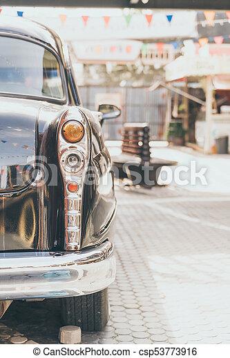 Headlight lamp of vintage classic car - csp53773916