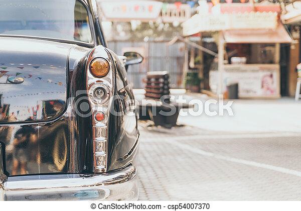 Headlight lamp of vintage classic car - csp54007370