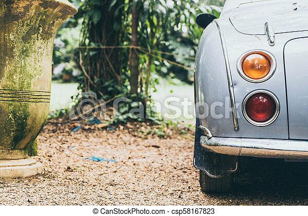 Headlight lamp of vintage classic car - csp58167823