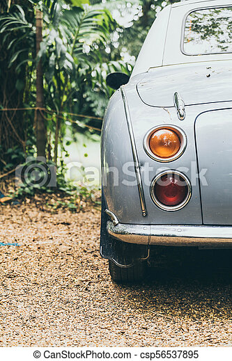 Headlight lamp of vintage classic car - csp56537895