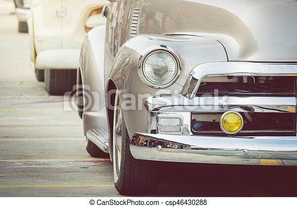 Headlight lamp vintage classic car - csp46430288
