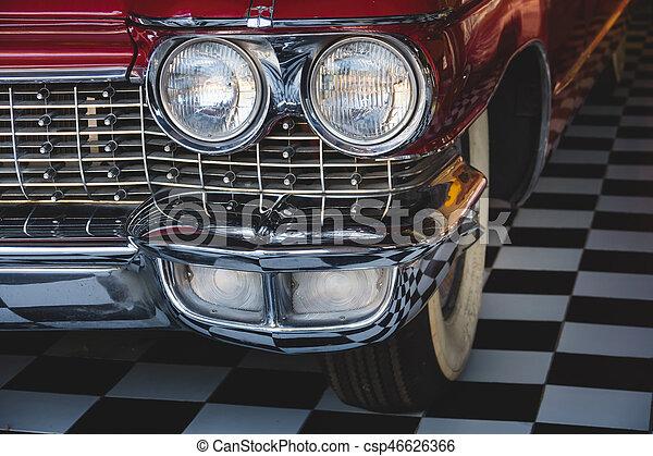 Headlight lamp vintage classic car - csp46626366