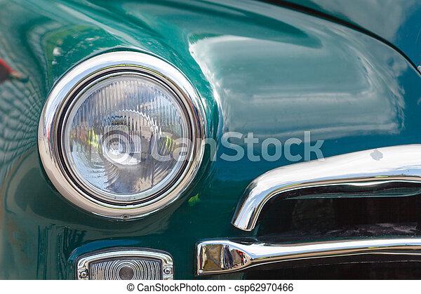 Headlight lamp vintage classic car - csp62970466