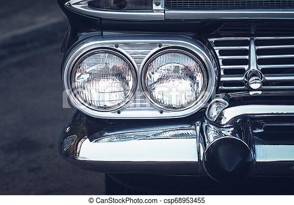 Headlight lamp vintage classic car - csp68953455
