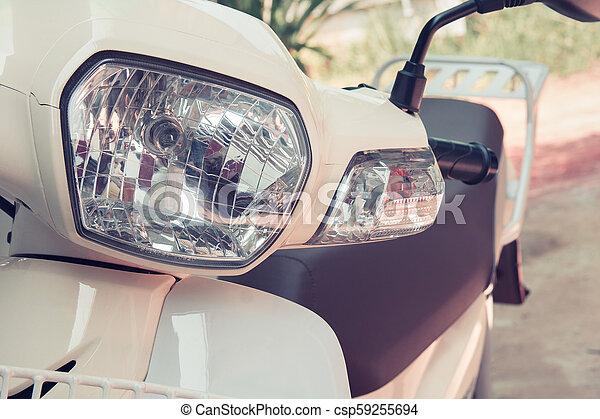 Headlight lamp vintage classic motorcycle - vintage effect style pictures - csp59255694
