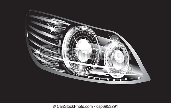 Headlight Modern Luminescent Lamp Design Of A Car
