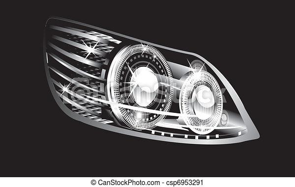 Headlight Modern Luminescent Lamp Design Of A Car