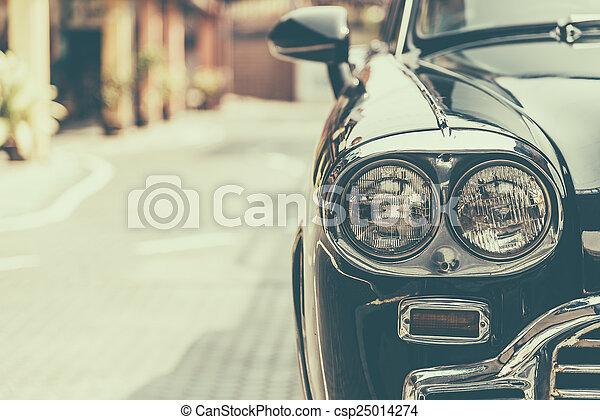 Headlight vintage classic car - csp25014274
