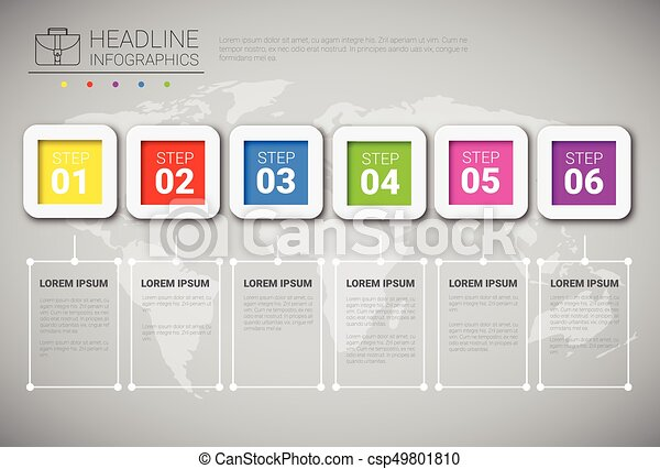 Headline infographic design business data graphic collection over headline infographic design business data graphic collection over world map presentation copy space csp49801810 gumiabroncs Choice Image