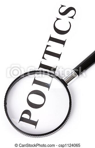 headline politics and magnifier - csp1124065