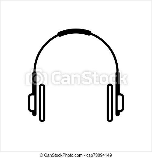 Headphone Icon Head Phone Vector Art Illustration