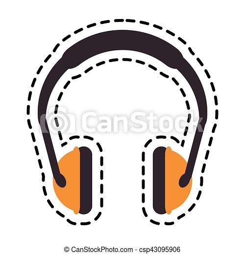 Headphone of industrial security design - csp43095906