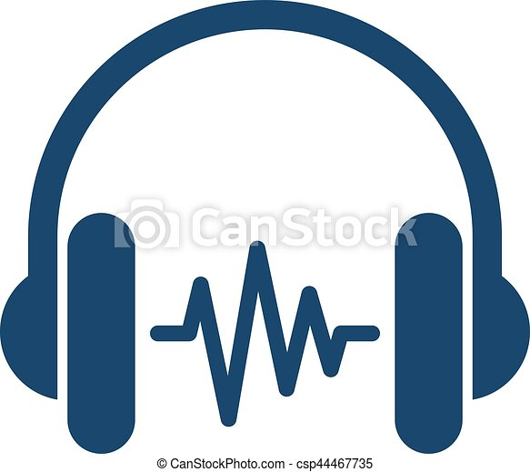 Headphone With Soundwave - csp44467735