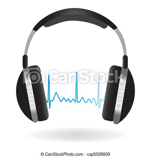 Headphones and Soundwave - csp5526609