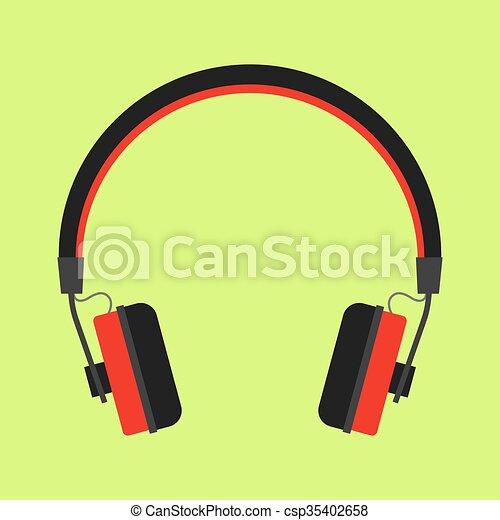 Headphones icon - csp35402658