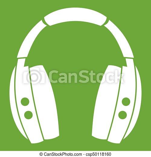 Headphones icon green - csp50118160