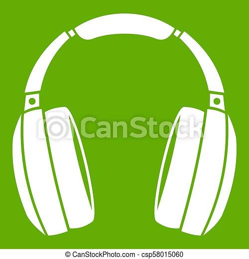 Headphones icon green - csp58015060