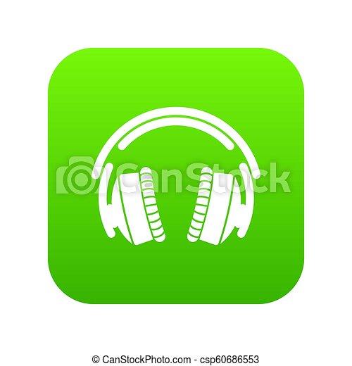 Headphones icon green - csp60686553