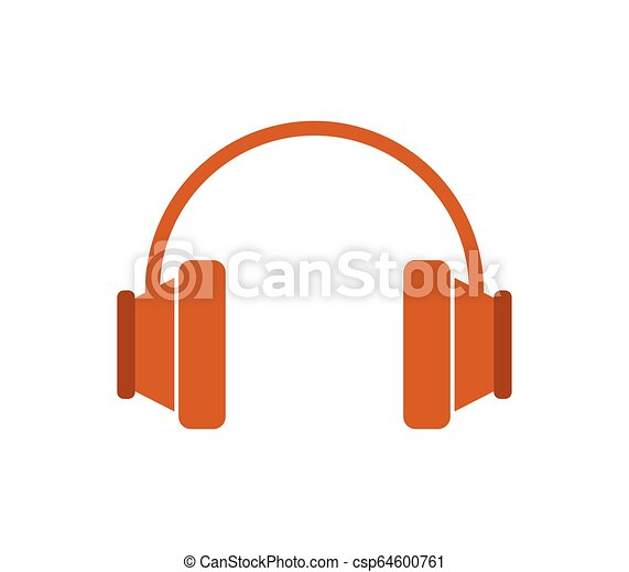 headphones icon on white background - csp64600761