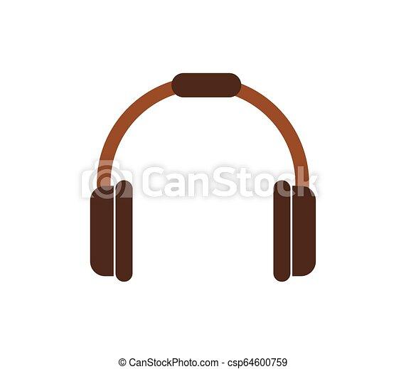headphones icon on white background - csp64600759