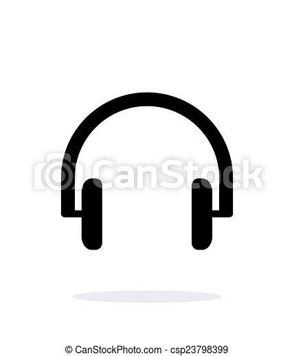 Headphones icon on white background. - csp23798399