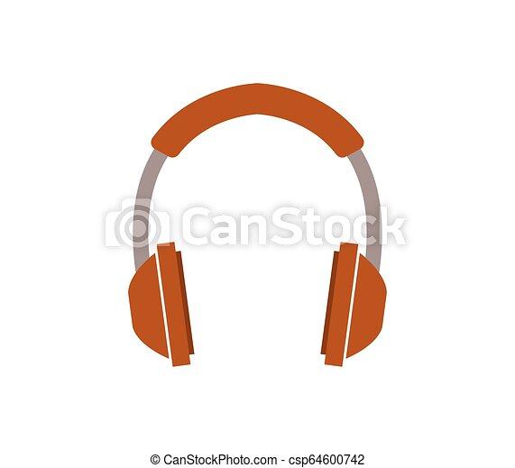 headphones icon on white background - csp64600742