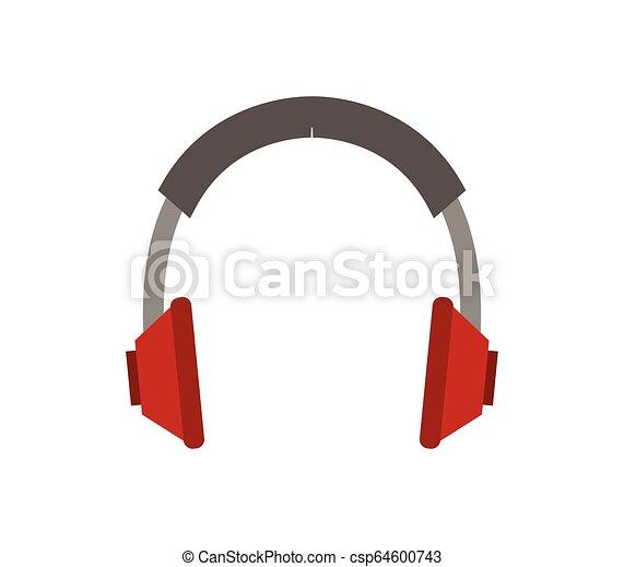 headphones icon on white background - csp64600743