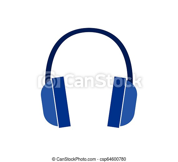 headphones icon on white background - csp64600780