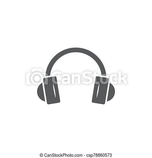 Headphones icon on white background - csp78860573