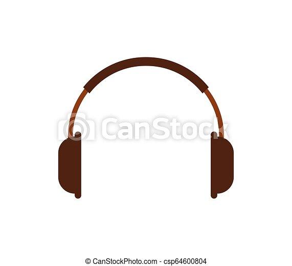 headphones icon on white background - csp64600804