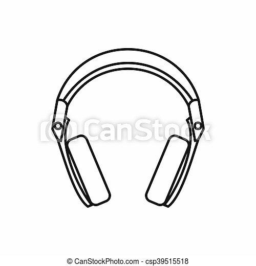 Headphones icon, outline style - csp39515518