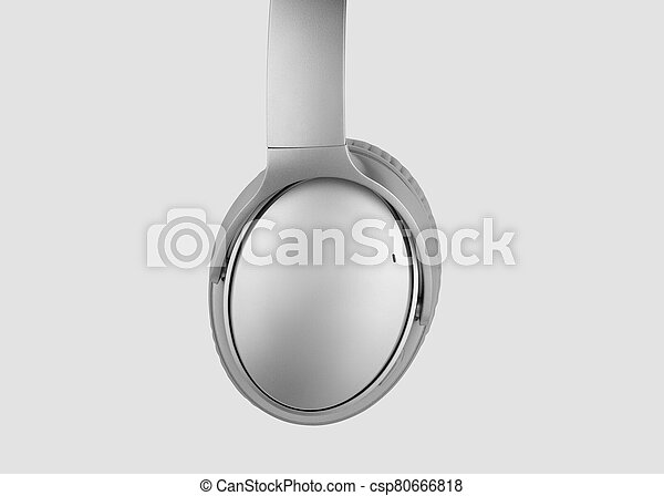 headphones isolated on a white background - csp80666818