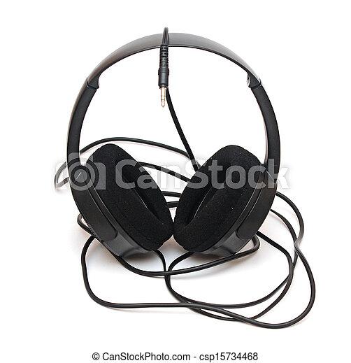 headphones isolated on white background - csp15734468