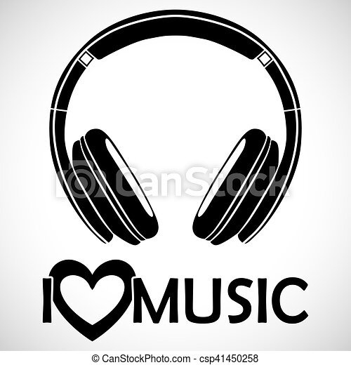 Headphones Logo Icon I Love Music I For The Creative Use In