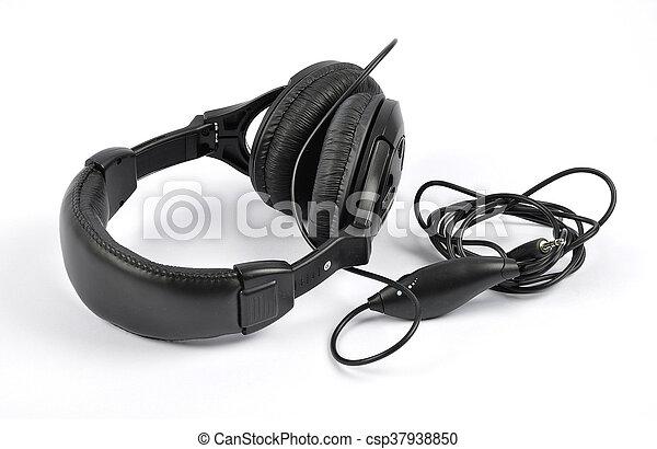 Headphones on white background - csp37938850