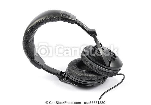 Headphones on white background - csp56831330