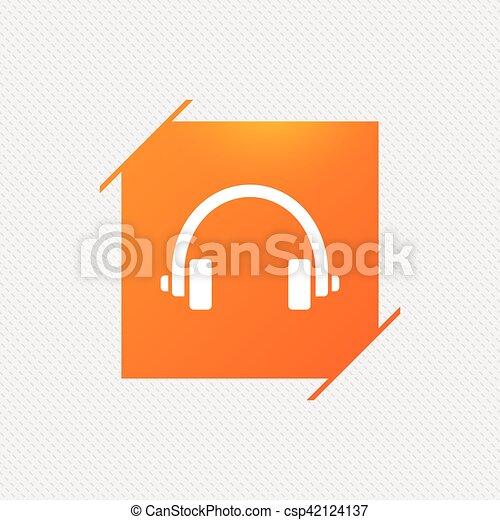 Headphones sign icon. Earphones button. - csp42124137