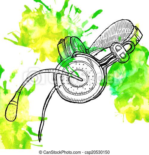 Headphones sketch - csp20530150