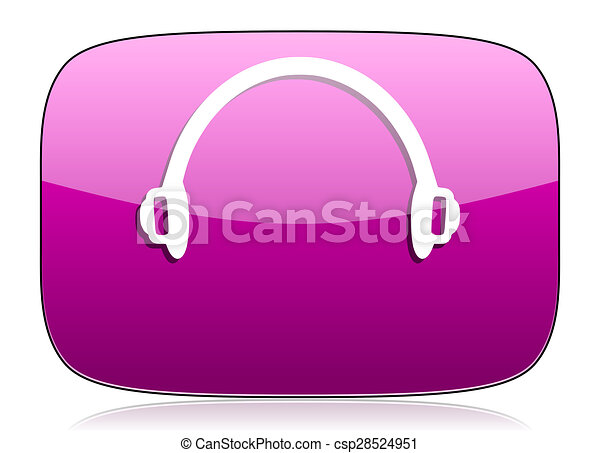 headphones violet icon - csp28524951