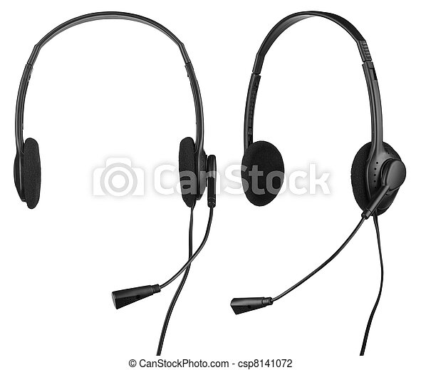 Headphones with a microphone - csp8141072